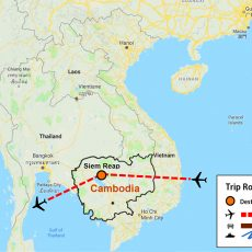 Siem Reap Tour Route Map