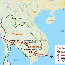 Thailand & Cambodia Tour 10 Days (map)
