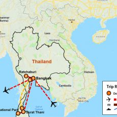 Thailand Private Tour 6 Days (map)