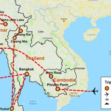 The Essential Cambodia, Myanmar & Thailand Tour 23 Days (map)