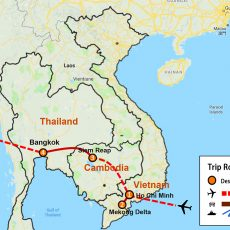 Vietnam, Cambodia & Thailand Tour Package 10 Days (map)