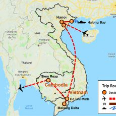 Vietnam & Cambodia Tour Package 10 Days (map)