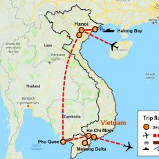 Vietnam Tour Package & Phu Quoc 9 Days (map)